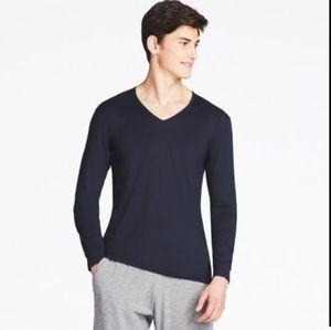 Nwt uniqlo heat tech black long sleeve shirt xl